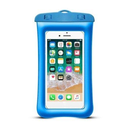 Etui wodoodporne pokrowiec na telefon kajak plażę niebieski