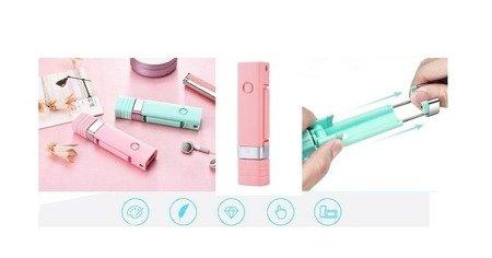 Kijek Selfie Stick uchwyt REMAX XT-P01 Bluetooth biały