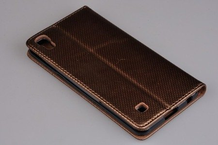 ETUI SMART W2 do LG X POWER  brązowy