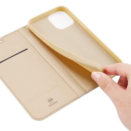 Etui Dux do Apple iPhone 12/ 12 Pro złoty smukły portfel