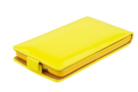Etui Kabura Flexi Fresh do MICROSOFT LUMIA 535 żółty