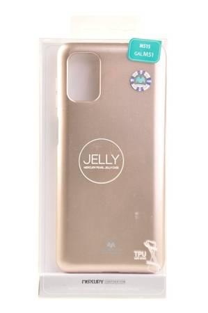 Etui Mercury Goospery Jelly Case do Samsung Galaxy M51 złoty