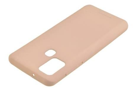 Etui Mercury Goospery Soft Feeling do Samsung Galaxy A21s beżowy