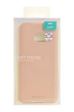 Etui Mercury Goospery Soft Feeling do Samsung Galaxy S7 beżowy