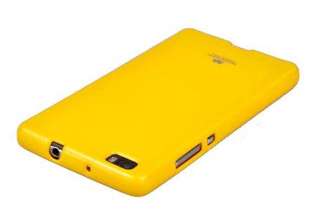 Etui Nakładka Mercury Goospery Jelly Case do HUAWEI P8 Lite żółty