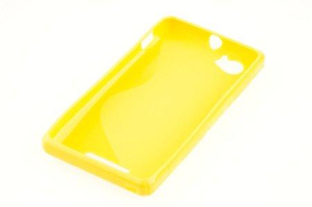 Etui Nakładka Silikonowa S-case  do SONY XPERIA M żółty