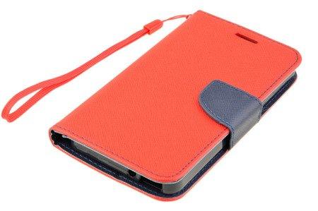 Etui Portfel Fancy Case do ALCATEL POP 4 5.0 czerwony