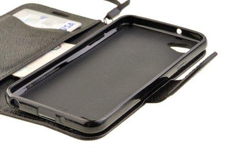 Etui Portfel Fancy Case do LG Q6 czarny