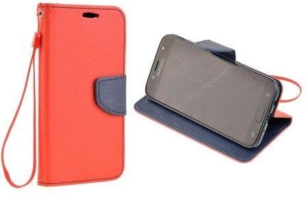 Etui Portfel Fancy Case do SAMSUNG Galaxy J3 2017 J330 czerwony