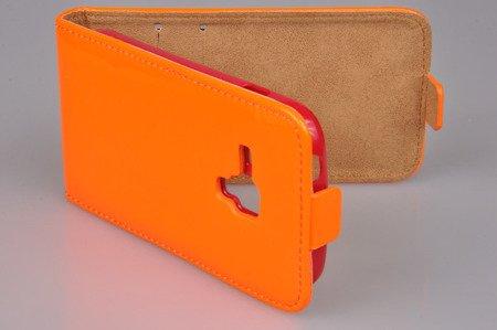 Etui kabura Flexi Fresh do SAMSUNG GALAXY TREND S7560 / TREND PLUS S7580 / DUOS S7562 pomarańczowy