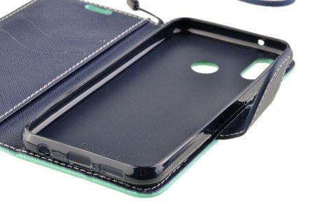 Etui portfel Fancy Case do HUAWEI P20 Lite miętowy