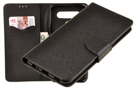 Etui portfel Fancy Case do LG K41s / K51s czarny