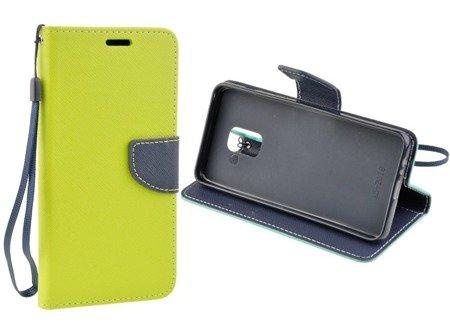 Etui portfel Fancy Case do SAMSUNG GALAXY A8 2018 A530 limonka