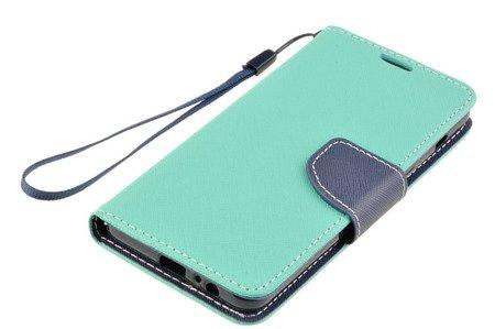 Etui portfel Fancy Case do SAMSUNG GALAXY A8 2018 A530 miętowy