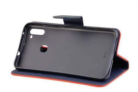 Etui portfel Fancy Case do Samsung Galaxy M11 / A11 czerwony