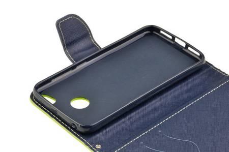 Etui portfel Fancy Case do Xiaomi Redmi 4X limonka