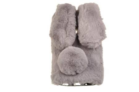 Etui z futerkiem króliczek do Samsung Galaxy M11 / A11 szary