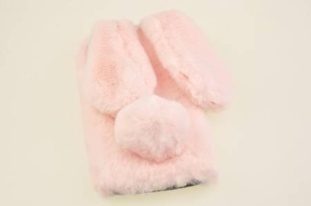 Etui z futerkiem króliczek do Samsung Galaxy M21 róź