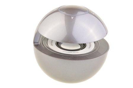 Głośnik Bezprzewodowy Bluetooth Led MP3 microSD Aux szary