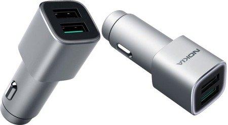 Oryginalna Ładowarka Samochodowa NOKIA DC-801 Quick Charge 3.0 2x USB Box