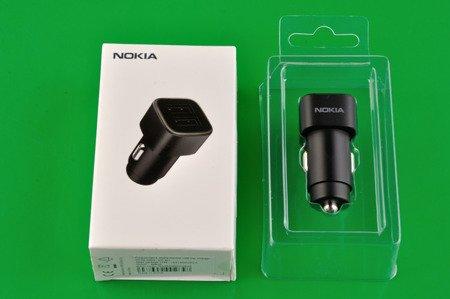 Oryginalna ładowarka samochodowa Nokia DC-301 2x USB 3,4A BOX