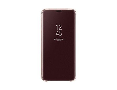 Oryginalne etui Clear View Standing Cover do SAMSUNG GALAXY S9+ / S9 Plus G965 złoty