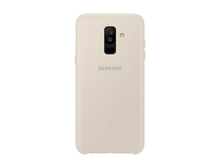 Oryginalne etui Dual Layer Cover do SAMSUNG GALAXY A6+ / A6 Plus 2018 złoty