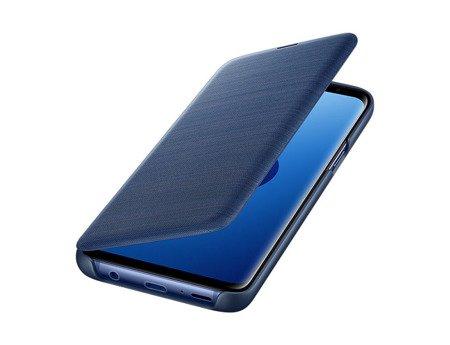 Oryginalne etui Led View Cover do SAMSUNG Galaxy S9 G960 niebieski