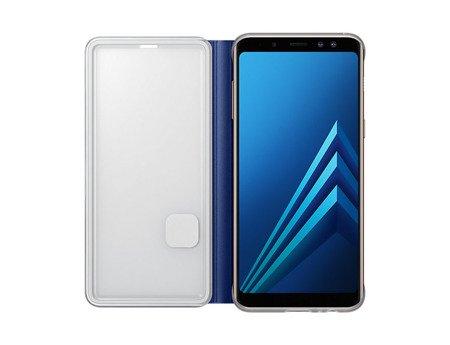 Oryginalne etui Neon Flip Cover do SAMSUNG GALAXY A8 2018 A530 niebieski