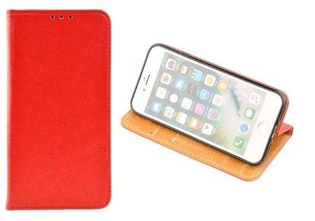 SKÓRZANE ETUI BOOK COVER do APPLE iPhone 7 / iPhone 8 czerwony