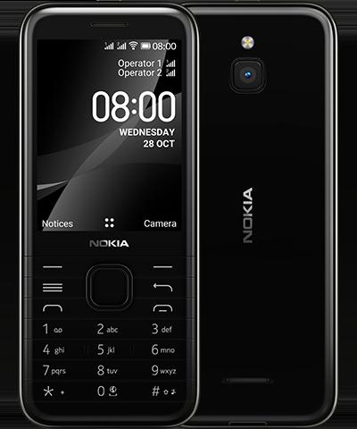 Telefon komórkowy Nokia 8000 4G czarny