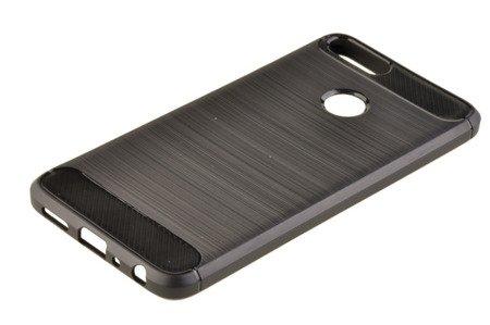Wytrzymałe etui Back Case Carbon do HUAWEI P Smart czarny